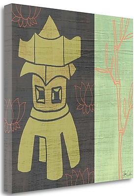 Tangletown Fine Art 'Pagoda' Graphic Art Print on Wrapped Canvas; 30'' H x 30'' W