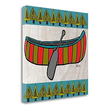 Tangletown Fine Art 'Forest Canoe' Graphic Art Print on Canvas; 25'' H x 25'' W