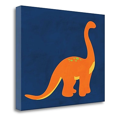 Tangletown Fine Art 'Dino 333' Graphic Art Print on Wrapped Canvas; 18'' H x 23'' W