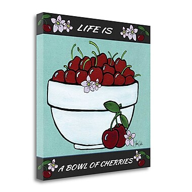 Tangletown Fine Art 'Cherries' Graphic Art Print on Wrapped Canvas; 25'' H x 25'' W