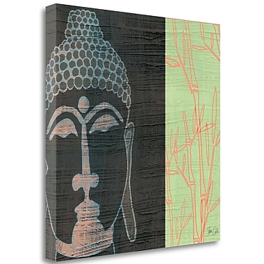 Tangletown Fine Art 'Buddha' Graphic Art Print on Wrapped Canvas; 25'' H x 25'' W