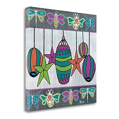 Tangletown Fine Art 'Boho Lanterns and Bugs' Graphic Art Print on Wrapped Canvas; 35'' H x 35'' W