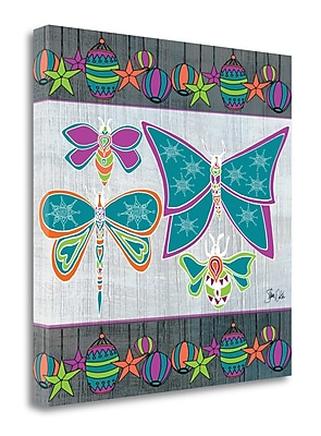 Tangletown Fine Art 'Boho Bugs and Lanterns' Graphic Art Print on Wrapped Canvas; 25'' H x 25'' W