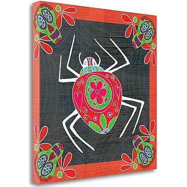 Tangletown Fine Art 'Day of The Dead Spider I' Graphic Art Print on Wrapped Canvas; 30'' H x 30'' W