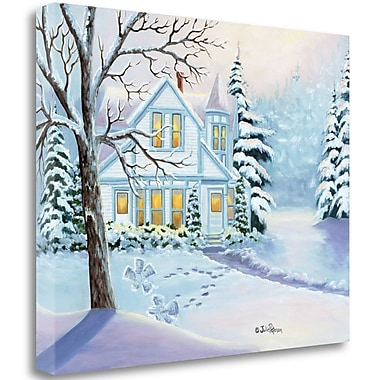 Tangletown Fine Art 'Christmas Snow Angels' Print on Wrapped Canvas; 20'' H x 24'' W