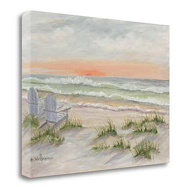 Tangletown Fine Art 'Companions at the Ocean' Print on Wrapped Canvas; 21'' H x 29'' W