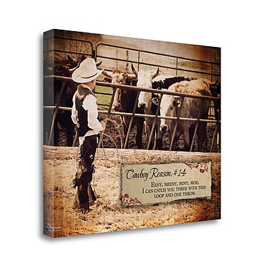 Tangletown Fine Art 'Cowboy Reason 14' Graphic Art Print on Wrapped Canvas; 22'' H x 28'' W