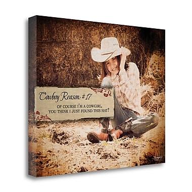 Tangletown Fine Art 'Cowboy Reason 17' Graphic Art Print on Wrapped Canvas; 16'' H x 20'' W