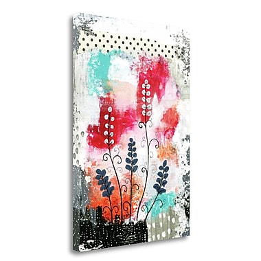 Tangletown Fine Art 'Colorful Flowers' Graphic Art Print on Wrapped Canvas; 34'' H x 24'' W