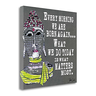 Tangletown Fine Art 'Buddha Typography' Textual Art on Wrapped Canvas; 20'' H x 20'' W