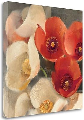 Tangletown Fine Art 'Poppies Bloom III' Print on Canvas; 30'' H x 30'' W