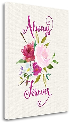 Tangletown Fine Art 'Always Forever' Graphic Art Print on Wrapped Canvas; 23'' H x 18'' W