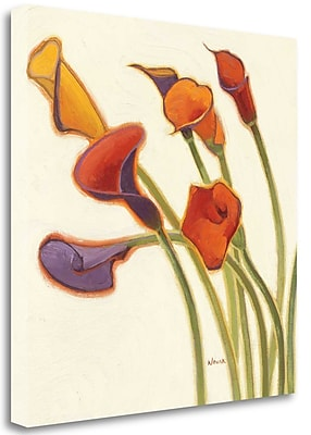 Tangletown Fine Art 'Callas in the Wind II' Print on Wrapped Canvas; 20'' H x 20'' W