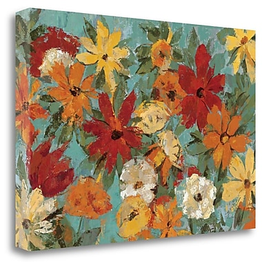 Tangletown Fine Art 'Bright Expressive Garden' Print on Wrapped Canvas; 32'' H x 48'' W