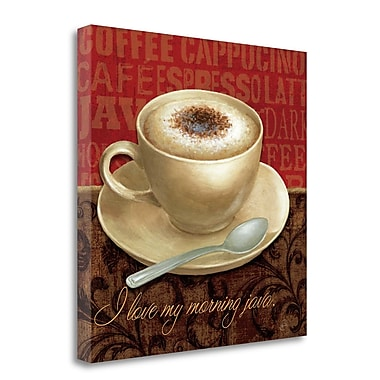 Tangletown Fine Art 'Coffee Talk I' Graphic Art Print on Wrapped Canvas; 24'' H x 24'' W