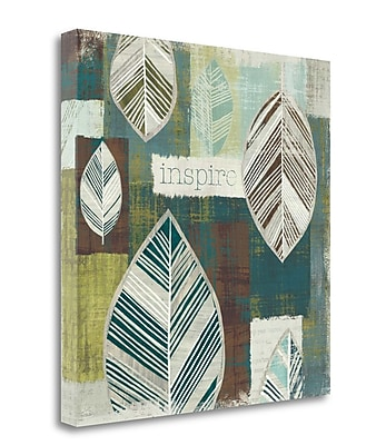 Tangletown Fine Art 'Be Leaves II' Graphic Art Print on Wrapped Canvas; 24'' H x 24'' W