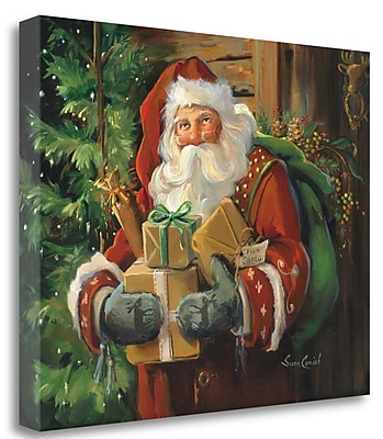 Tangletown Fine Art 'Holiday Cheer' Print on Canvas; 22'' H x 28'' W WYF078281586436