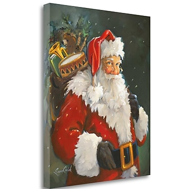 Tangletown Fine Art 'Kris Kringle' Print on Wrapped Canvas; 26'' H x 21'' W