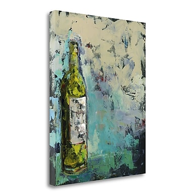 Tangletown Fine Art 'Wines in Gray' Print on Canvas; 22'' H x 18'' W