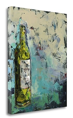 Tangletown Fine Art 'Wines in Gray' Print on Canvas; 31'' H x 25'' W