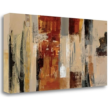 Tangletown Fine Art 'Urban Morning' Print on Wrapped Canvas; 17'' H x 34'' W
