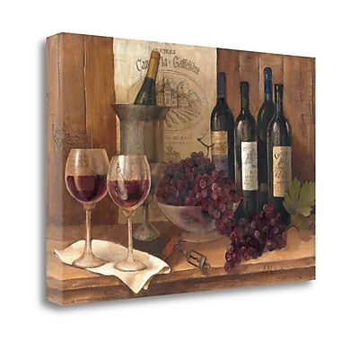 Tangletown Fine Art 'Vintage Wine' Print on Canvas; 32'' H x 48'' W