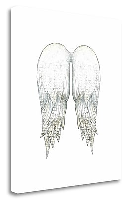 Tangletown Fine Art 'Angel Wings in White' Graphic Art Print on Wrapped Canvas; 20'' H x 18'' W