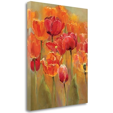 Tangletown Fine Art 'Tulips in the Midst I' Print on Wrapped Canvas; 40'' H x 32'' W