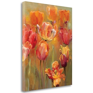 Tangletown Fine Art 'Tulips in the Midst II' Print on Wrapped Canvas; 32'' H x 26'' W