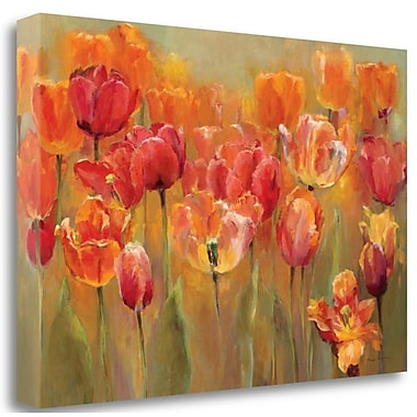 Tangletown Fine Art 'Tulips in the Midst III' Print on Wrapped Canvas; 23'' H x 34'' W