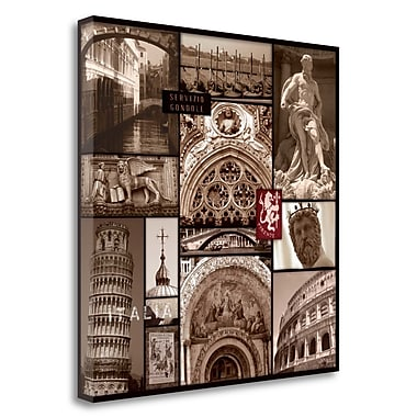 Tangletown Fine Art 'Italy' Graphic Art Print on Wrapped Canvas; 35'' H x 35'' W