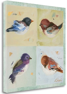 Tangletown Fine Art 'Birds I' Print on Wrapped Canvas; 24'' H x 24'' W