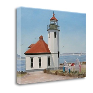 Tangletown Fine Art 'Alki Point Lighthouse' Print on Wrapped Canvas; 35'' H x 47'' W