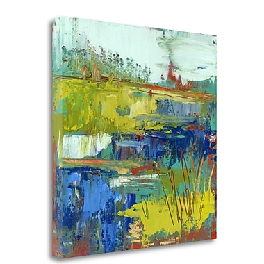 Tangletown Fine Art 'Abstract Marsh III' Print on Wrapped Canvas; 30'' H x 30'' W