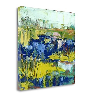 Tangletown Fine Art 'Abstract Marsh IV' Print on Wrapped Canvas; 18'' H x 18'' W
