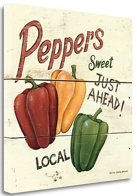 Tangletown Fine Art 'Sweet Peppers - 6 x 6' Vintage Advertisement on Wrapped Canvas; 20'' H x 20'' W