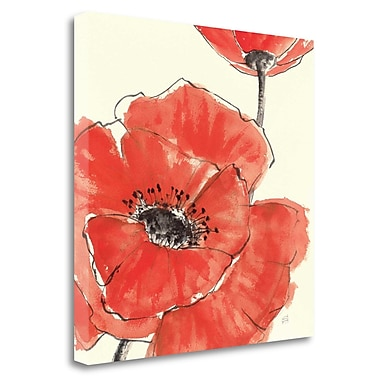 Tangletown Fine Art 'Spring Poppy II' Print on Wrapped Canvas; 24'' H x 24'' W