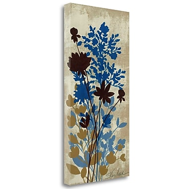 Tangletown Fine Art 'Spring Bouquet I on Tan' Print on Canvas; 34'' H x 17'' W