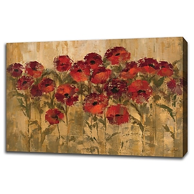 Tangletown Fine Art 'Sunshine Florals' Print on Wrapped Canvas; 32'' H x 48'' W