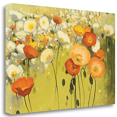 Tangletown Fine Art 'Spring Confetti' Print on Wrapped Canvas; 16'' H x 24'' W