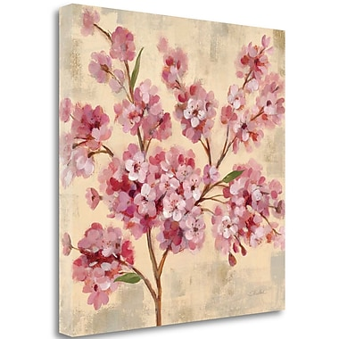 Tangletown Fine Art 'Pink Cherry Branch II' Print on Wrapped Canvas; 24'' H x 24'' W