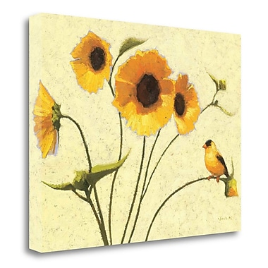 Tangletown Fine Art 'Sunny Flowers IV' Print on Wrapped Canvas; 24'' H x 32'' W