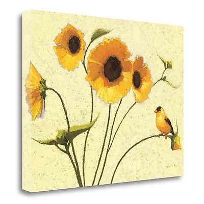 Tangletown Fine Art 'Sunny Flowers IV' Print on Wrapped Canvas; 17'' H x 23'' W