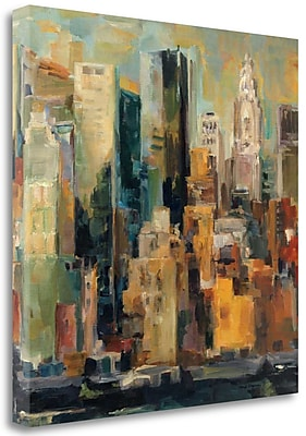 Tangletown Fine Art 'New York New York' Print on Wrapped Canvas; 18'' H x 18'' W
