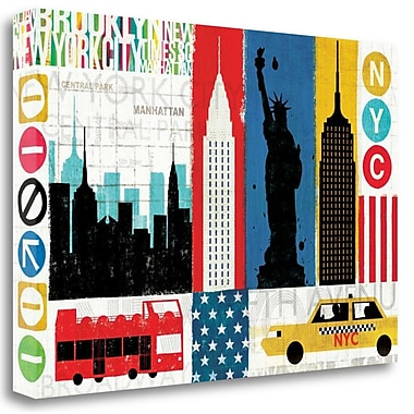 Tangletown Fine Art 'New York City Experience' Graphic Art Print on Wrapped Canvas; 16'' H x 24'' W