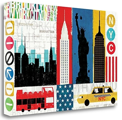 Tangletown Fine Art 'New York City Experience' Graphic Art Print on Wrapped Canvas; 26'' H x 39'' W