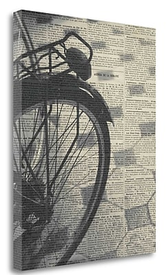 Tangletown Fine Art 'La Bicyclette III Crop' Photographic Print on Wrapped Canvas; 28'' H x 22'' W