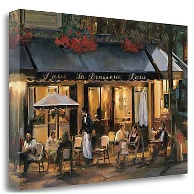 Tangletown Fine Art 'La Brasserie' Print on Wrapped Canvas; 26'' H x 39'' W