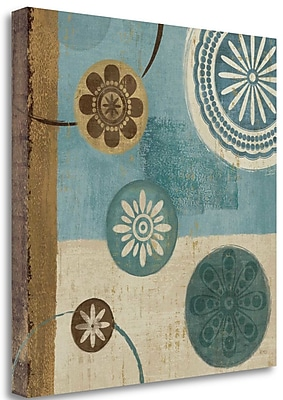 Tangletown Fine Art 'New Generation Blue II' Graphic Art Print on Wrapped Canvas; 24'' H x 24'' W