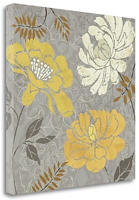 Tangletown Fine Art 'Morning Tones Gold I' Graphic Art Print on Canvas; 18'' H x 18'' W